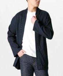 J692951 11Oz Indigo Sashiko Haori Jacket