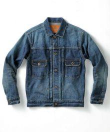 J386621 16.5oz Cote d'Ivoire Cotton Selvedge Denim Jacket (Washed)