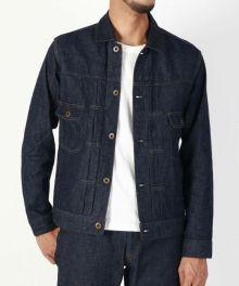 [EXCLUSIVE ITEM] J387651 8oz Cote d'Ivoire cotton Selvedge Denim Jacket
