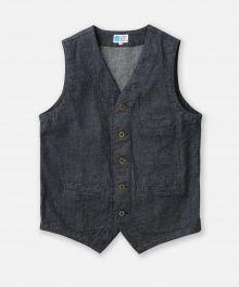 J427651  8oz Cote d'Ivoire Cotton Selvedge Denim Urban Vest