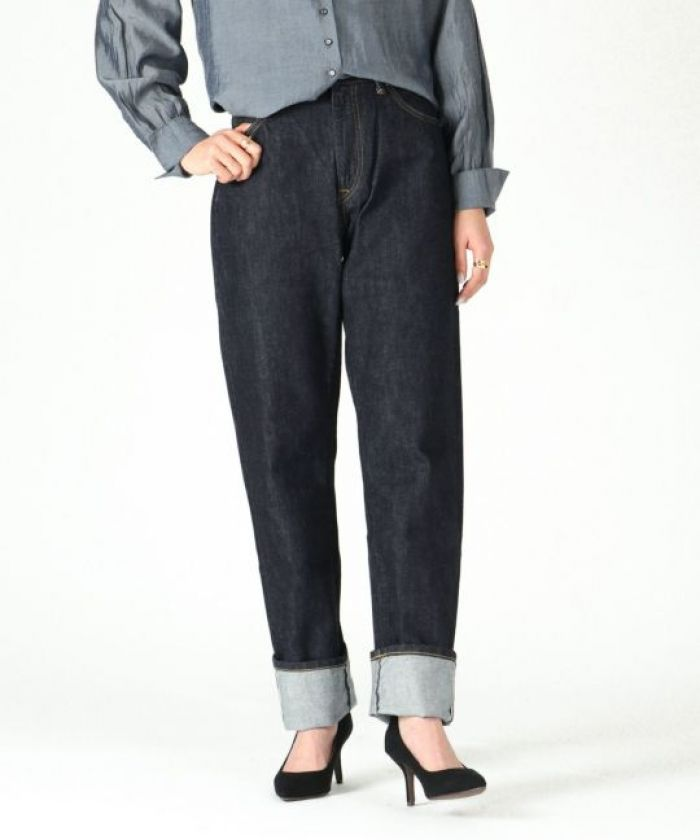 UP128201 【Jeanne】 Women's 12oz Selvedge High-rise Tapered Jeans