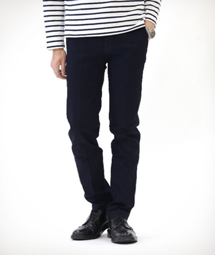 J22140J01 Slim Trousers Indigo×Black Trousers Denim