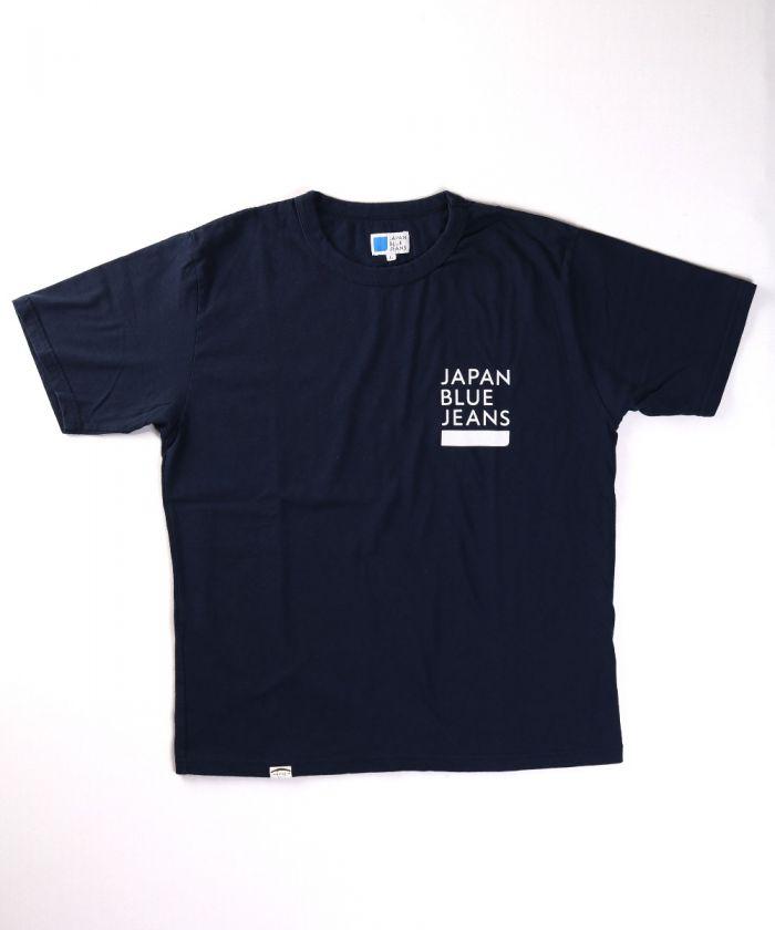 J443951 7.7oz Cote d'Ivoire Cotton Japan Blue Jeans Logo T-shirt