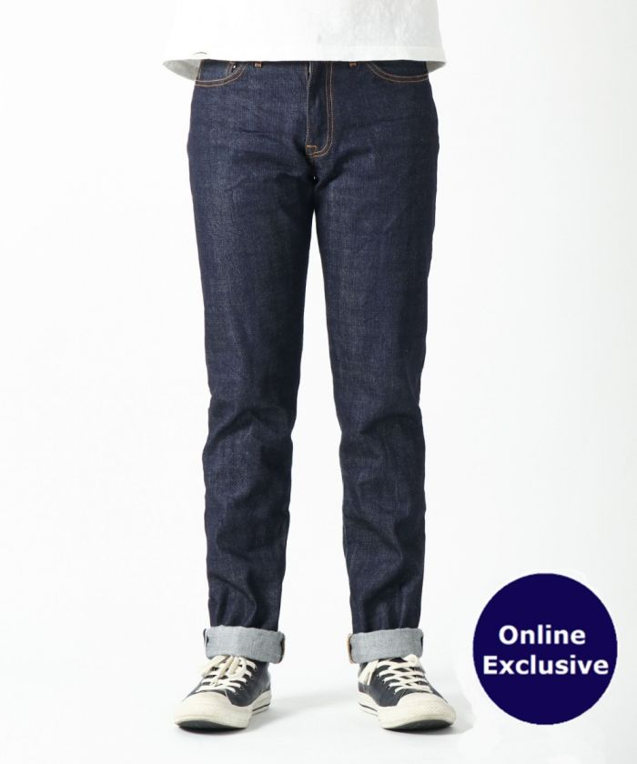 [ONLINE EXCLUSIVE] J042241 13.5 oz SUVIN GOLD COTTON TAPERED SELVEDGE JEANS