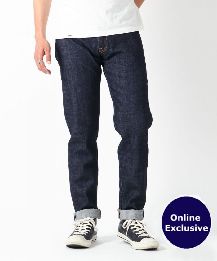 [Online Exclusive] J062243 13.5 oz Suvin Gold Cotton High-Tapered Selvedge Jeans