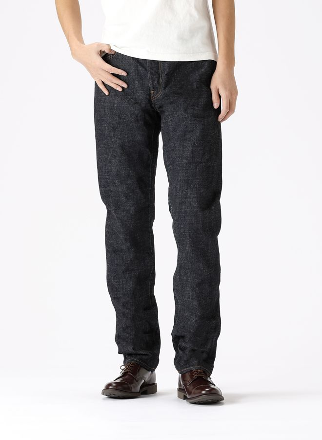 J366B L34 CIRCLE Tapered 16.5oz Cote d'Ivoire Cotton Monster Selvedge Jeans